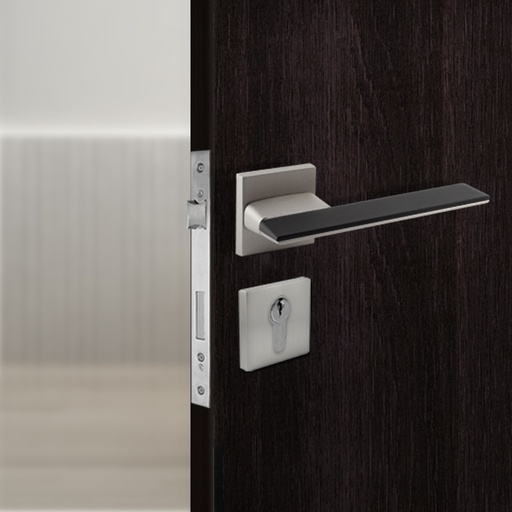 [TUR.MAN.1800GN] LISBOA TÜRGRIFFE DOOR LOCK GRAY/BLACK TUR.MAN.1800GN