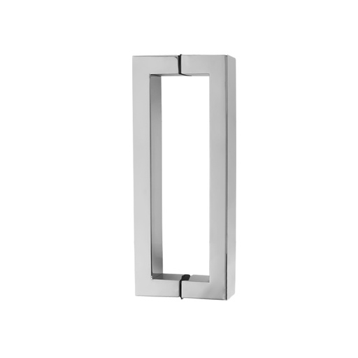 SQUARE PULL HANDLE BACK-TO-BACK - POLISHED STAINLESS STEEL CHCP004