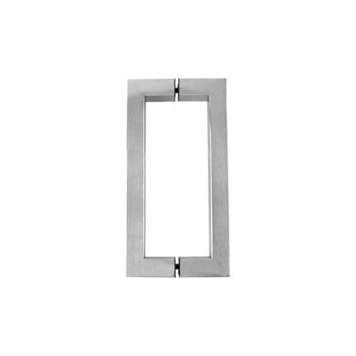 SQUARE PULL HANDLE BACK-TO-BACK - SATIN STAINLESS STEEL CHCP004