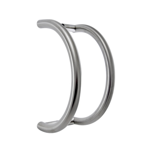 [CHCP008] C-SHAPED OFFSET PULL HANDLE BACK-TO-BACK - SATIN STAINLESS STEEL CHCP008