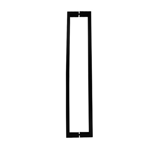 [CHCP011-800N] SQUARE PULL HANDLE BACK-TO-BACK - BLACK STAINLESS STEEL CHCP011