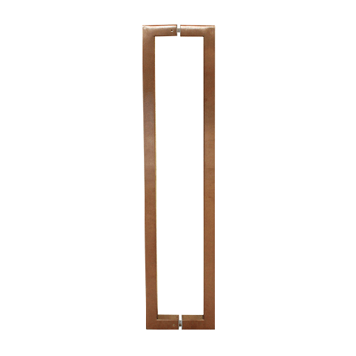 [CHCP027-800CSS] SQUARE PULL HANDLE BACK-TO-BACK - COPPER STAINLESS STEEL CHCP027