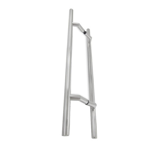 OFFSET LADDER PULL HANDLE BACK-TO-BACK - SATIN STAINLESS STEEL L42