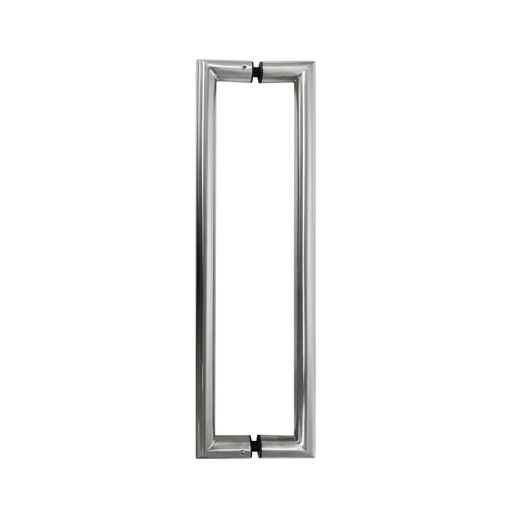 SQUARE PULL HANDLE BACK-TO-BACK - POLISHED STAINLESS STEEL L31