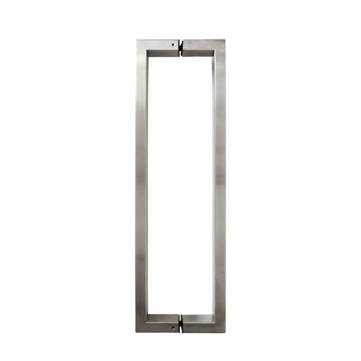 SQUARE PULL HANDLE BACK-TO-BACK - SATIN STAINLESS STEEL CHCP011
