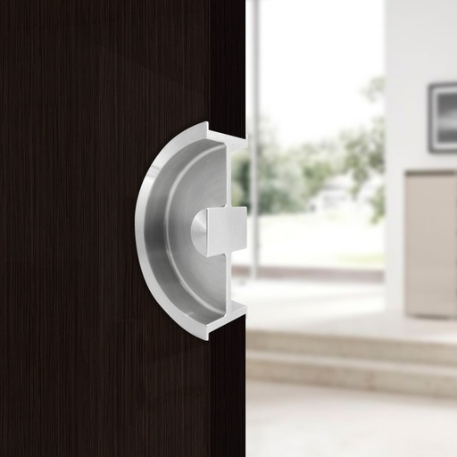 """CUPOLA"" POCKET DOOR HANDLE STAINLESS STEEL MOD. W3250"